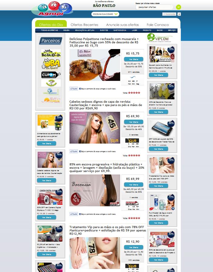 Agregador de ofertas para sistema de compra coletiva