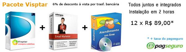 Sistema de compra coletiva Vipone, sistema de atendimento online e sistema de email marketing