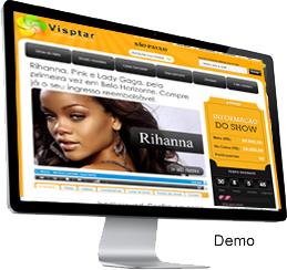 Clique para ver a demonstração do sistema de compra coletiva Vipstar - Um novo conceito em compras coletivas para Shows e Eventos