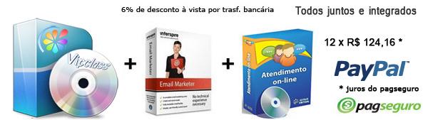 Sistema de compra coletiva Viplace, sistema de atendimento online e sistema de email marketing
