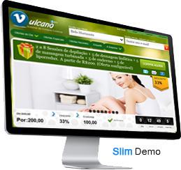 Clique para ver a demonstração do sistema de compra coletiva Vulcano Slim