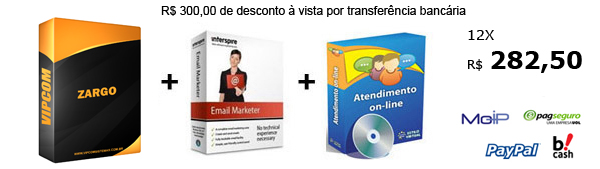 Zargo -Sistema de compra coletiva + sistema de atendimento online e sistema de email marketing